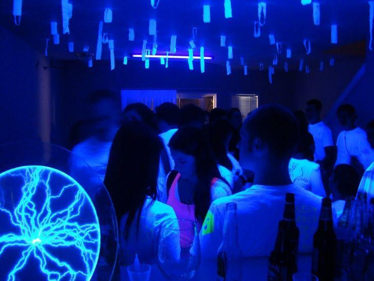 1. Black Light Graffiti Themed Party