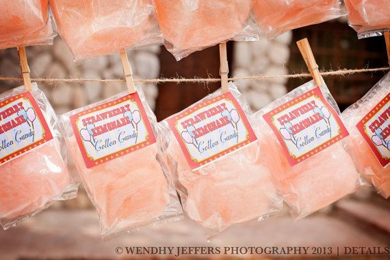 Cotton Candy Party Favors with Custom by SweetopiaCottonCandy, $1.75