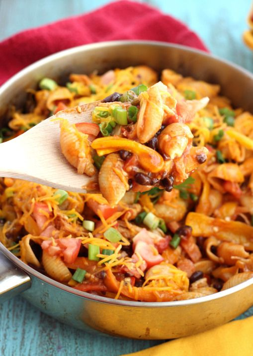 One Skillet Chicken Enchilada Pasta- This was very good with beef instead of chicken.  I used a taco seasoning recipe from AllRecipe and it was a bit much, but I would definitely make this again!  I love quick and one pot meals!