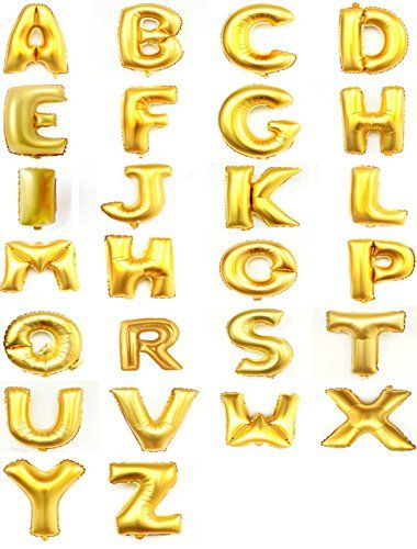 """Helium Foil letters balloons ,birthday holidays weddin party supply Golden 40""""E Changzhong http://www.amazon.com/dp/B00NCL2NX6/ref=cm_sw_r_pi_dp_201Hub1KJ4HQH"""