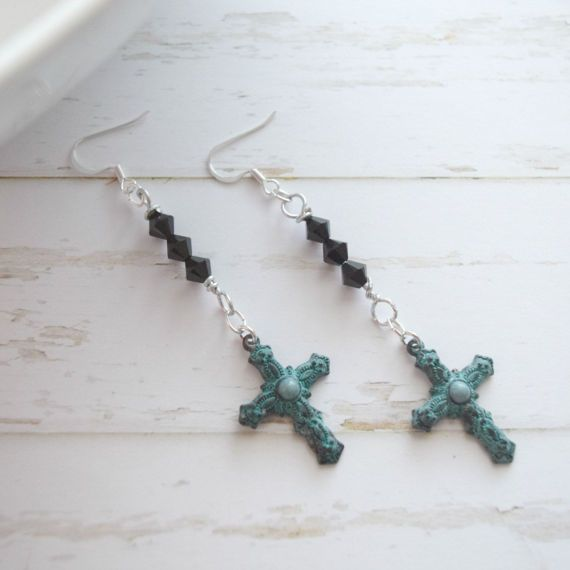 Hey, I found this really awesome Etsy listing at https://www.etsy.com/listing/181955819/long-cross-earrings-jewelry-cross
