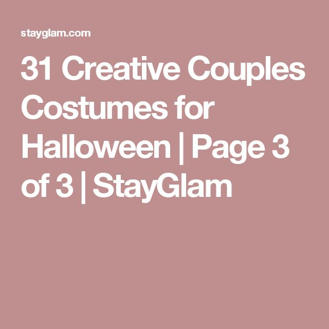 31 Creative Couples Costumes for Halloween | Page 3 of 3 | StayGlam