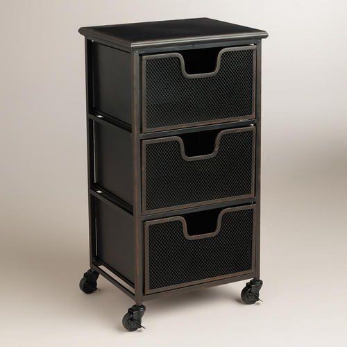 Espresso Austin 3-Drawer Cart