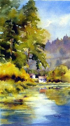 Landscape, Watercolor painting Great Reads from Exceptional Authors at http://wildbluepress.com. True crime, thrillers, mystery and business productivity books.