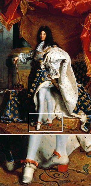 Las modas marcaban que los tacones de los hombres debían ser más bajos y más cuadrados. Mientras que el calzado de las mujeres era ya más esbelto y curvo. Era la época en que la ropa de los hombres iba perdiendo los clásicos atributos femeninos, llegando poco a poco el tiempo en que la masculinidad se ligaba a vestimenta más sobria, más oscura y seria. Y en el siglo XVIII los tacones altos o afilados ya eran cosa del pasado.