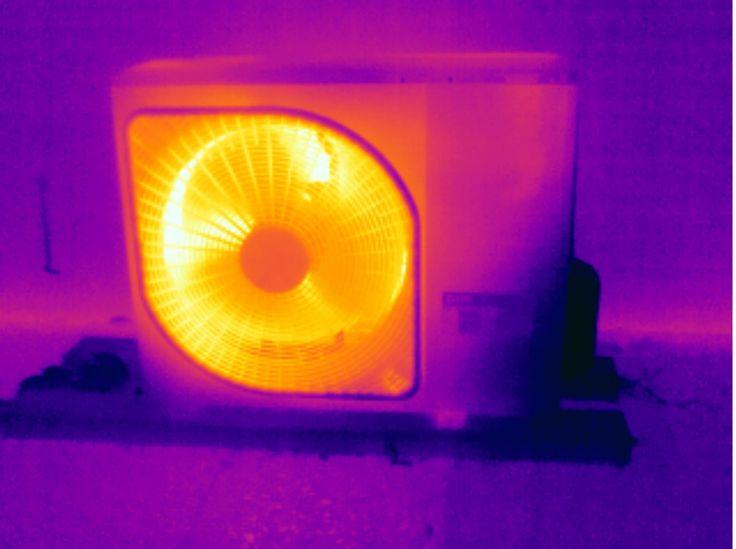 Energiekeurplus maakt gebruik van #thermografie om te controleren of verwarmingssystemen en airco's naar behoren functioneren.