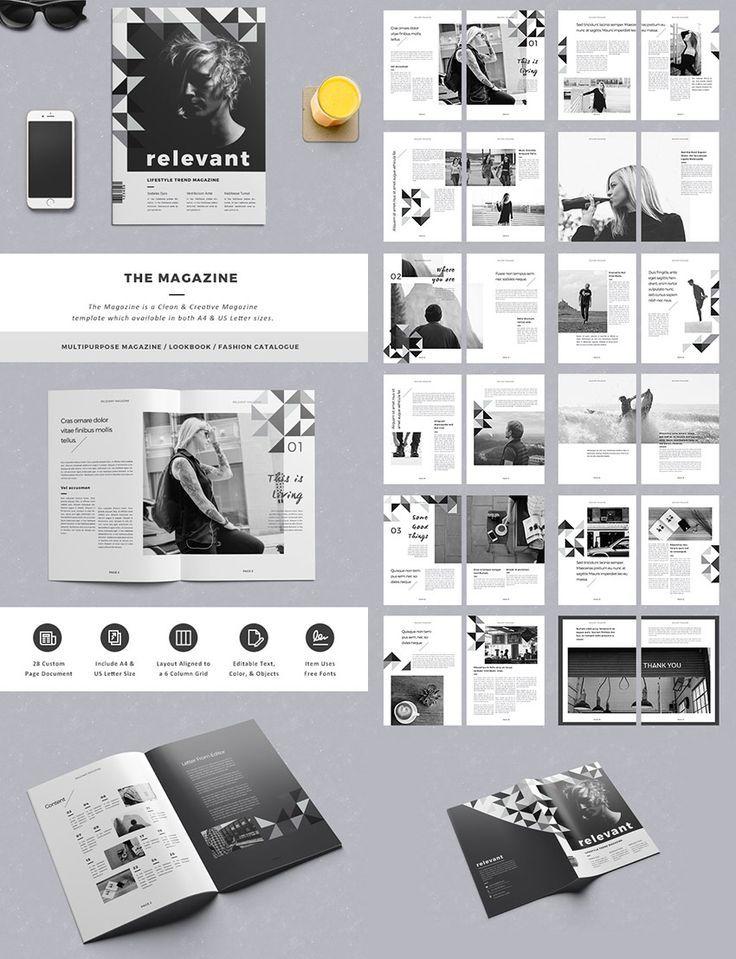 The Magazine Elegant Layout Design – #design #Elegant #layout #magazine
