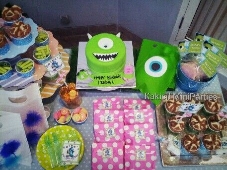 Monster's Univ birthday theme