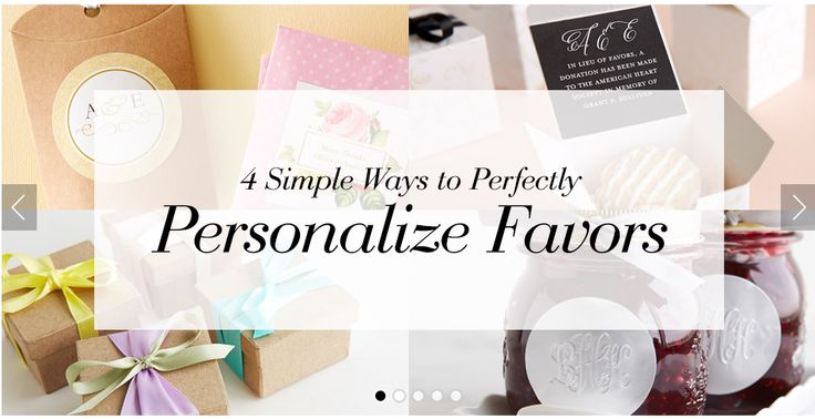 Wedding Favors - 4 DIY Ideas