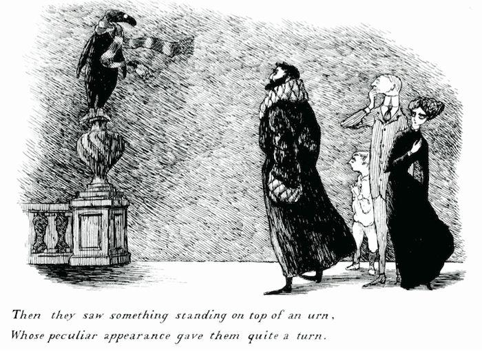 «Элегантные загадки» и иллюстрации в стиле макабр Эдварда Гори («Elegant Enigmas: The Art of Edward Gorey»). (8 фото)