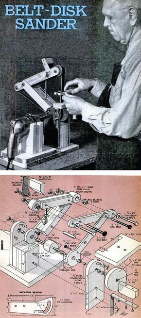 DIY Belt Sander - Sanding Tips, Jigs and Techniques   WoodArchivist.com #woodworkingtools