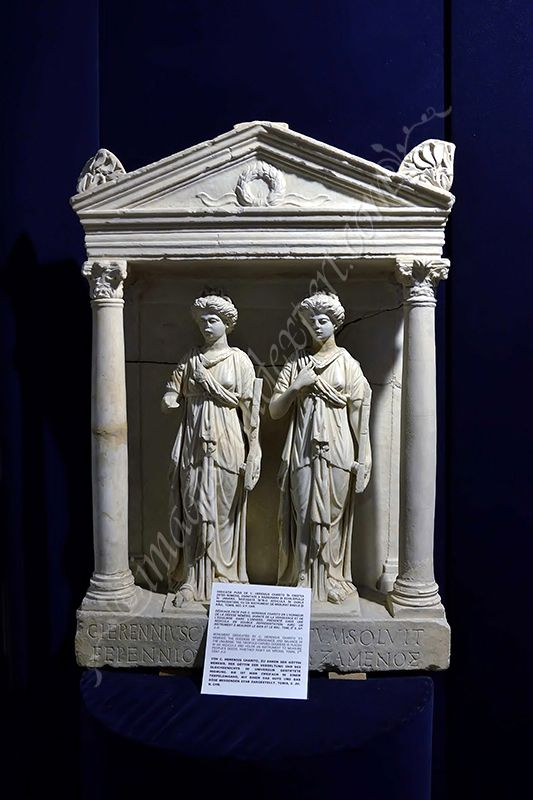 museum night, aedicula with dual representation of the goddess Nemesis