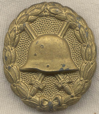 Very Rare WWI German Wound Badge in Gold