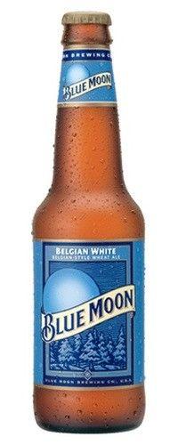 Cerveja Blue Moon Belgian White, estilo Witbier, produzida por Blue Moon Brewing Co., Estados Unidos. 5.4% ABV de álcool.