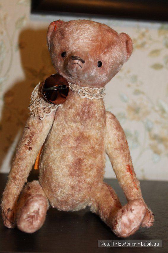 Авторский мишка ручной работы из винтажного плюша. Скидка на выходные 2500 / Авторские и коллекционные игрушки / Шопик. Продать купить куклу / Бэйбики. Куклы фото. Одежда для кукол