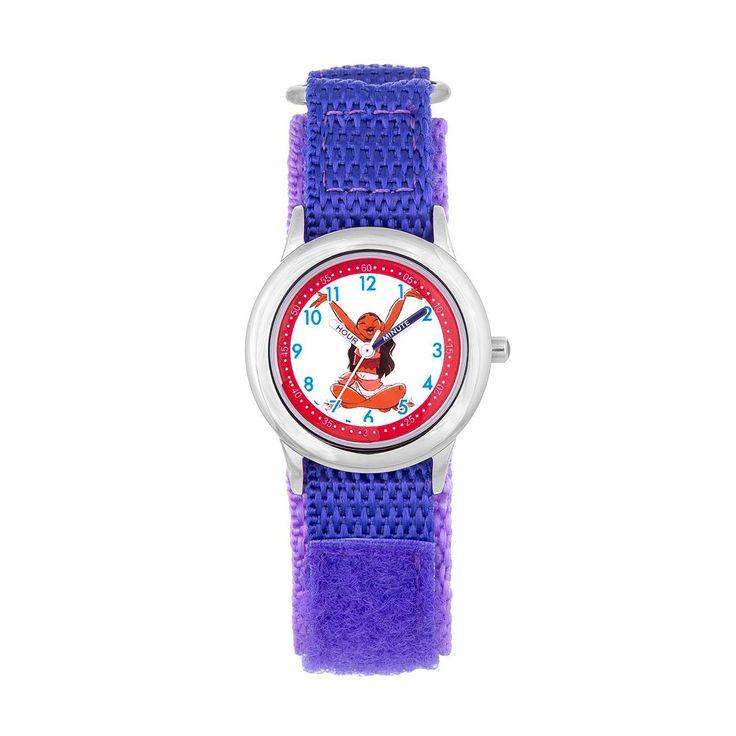 Disney's Moana Kids' Time Teacher Watch, Women's, Purple