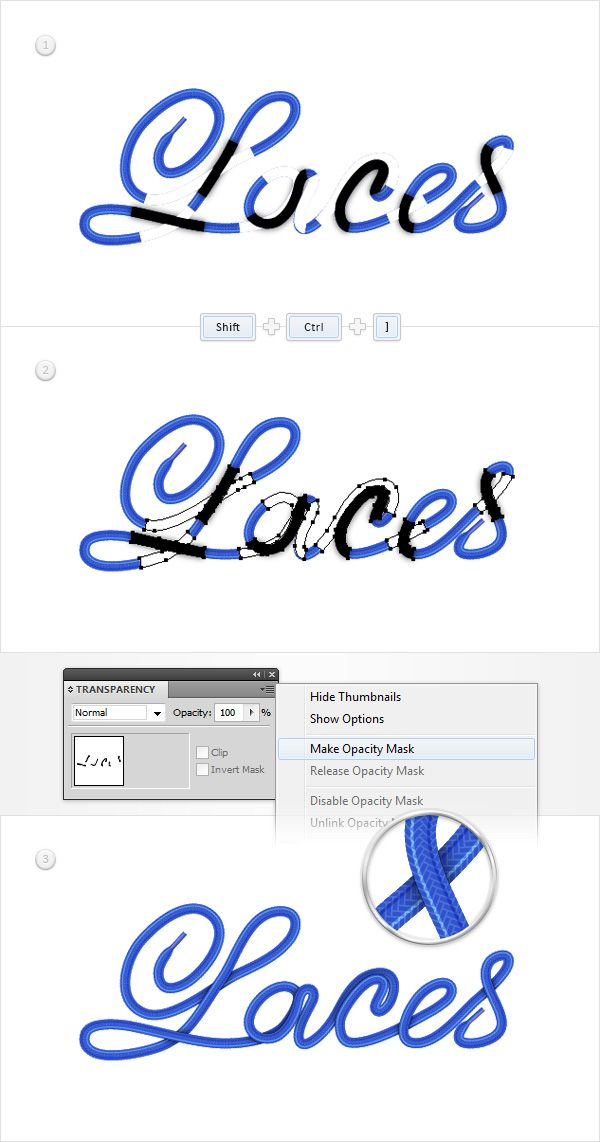 Create a Shoe Lace Text Effect in Illustrator