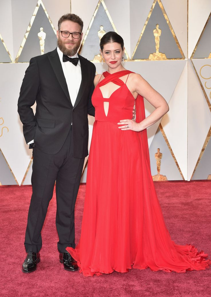 Seth Rogen and Lauren Miller    #AcademyAwards2017