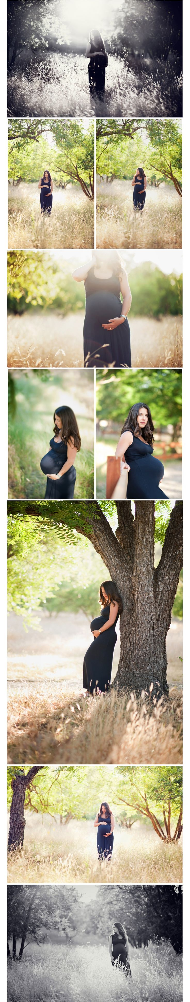I love thits as opposed to the naked wrapped in sheets thing .... Bay Area Newborn Photographer // outdoor maternity portraits