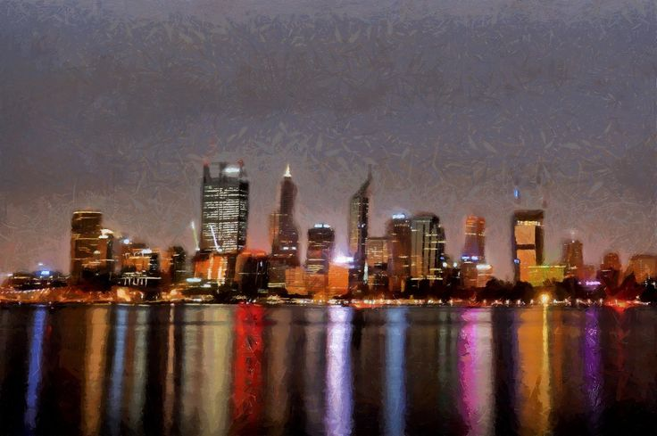 Colours of Perth by ArtbyOlafur on Etsy