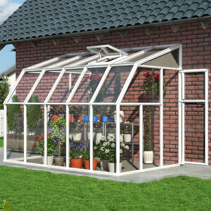 Rion Greenhouses Sun Room 2 6 Ft. W x 10 Ft. D Greenhouse