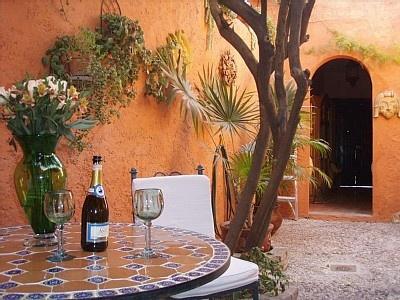 interior garden/patio . . .