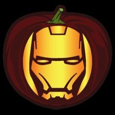 Iron Man Pumpkin Stencil