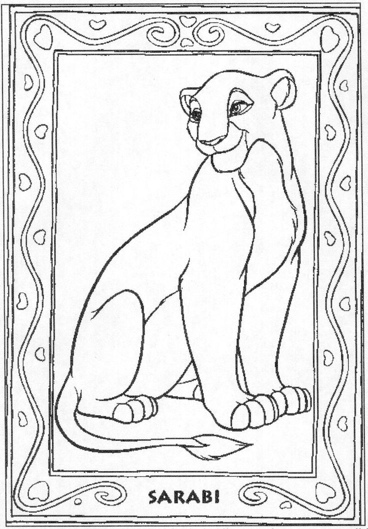 41 best images about Coloring Pages The Lion King on