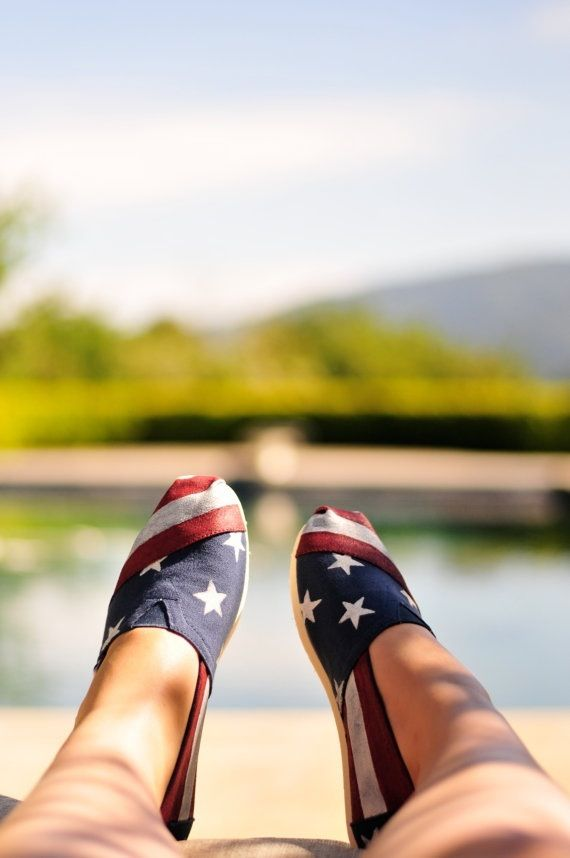 American flag Toms- Independence Day indeed!