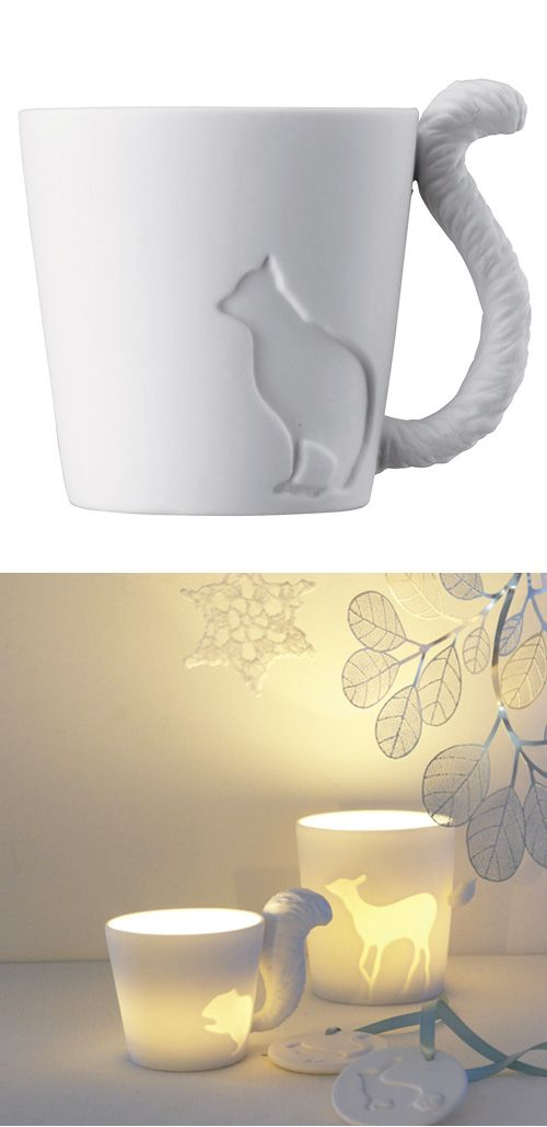 Animal Mugs - can also be used as a votive!