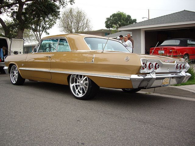 1963 Chevy Impala - mom sat on a pillow to see out the windshield in one of these