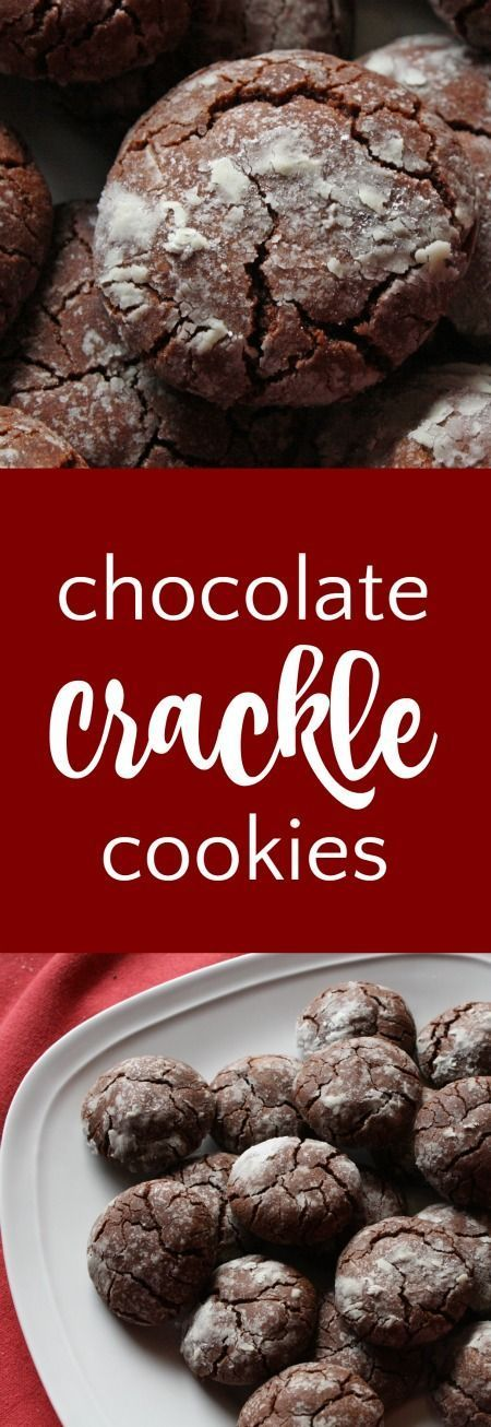 Chocolate Crackle Cookies | http://RoseBakes.com   Easy and pretty chocolate cookies!