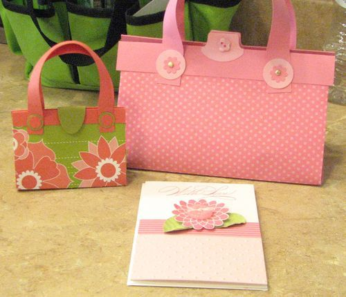 he larger purse holds note cards and envelopes
