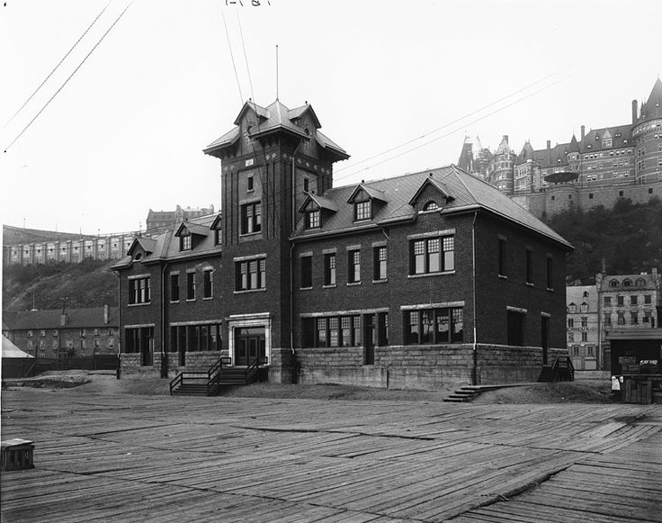 Champlain Market Station, Quebec City, QC, 1916   by Musée McCord Museum - you can see the Chateau Frontenac in the background