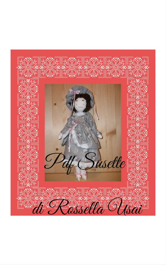 Pdf Cloth doll Vintage Style Dress. Pattern and instructions. Susette is simply elegant in this dress, designed by me. Vintage sewing pattern, doll and clothes. Pdf di 17 pagine con foto step-by-step. Pattern is on a full size. Instructions in Italian, which can be translated with Google Translate. The pattern is described in Italian and in English.