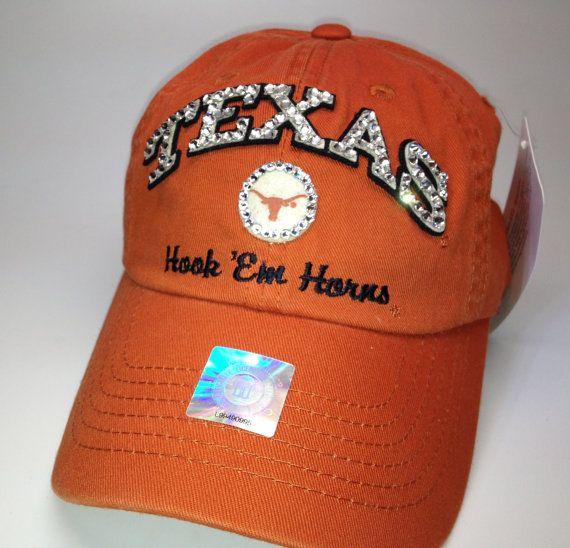 Swarovski crystal bling Texas Longhorns adjustable hat