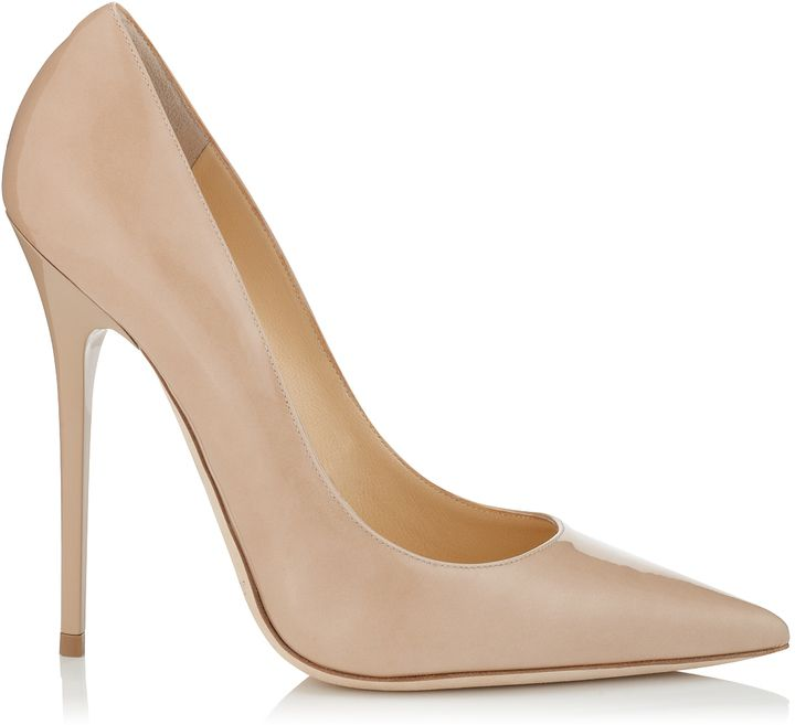 Anouk Nude Patent Pointy Toe Stiletto Pumps