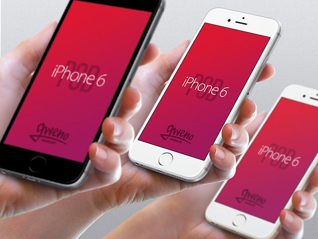 A set of photographic iPhone 6 mockups (hand view) available in 3 colours. Free PSD created and released by Gwénolé Jaffrédou.
