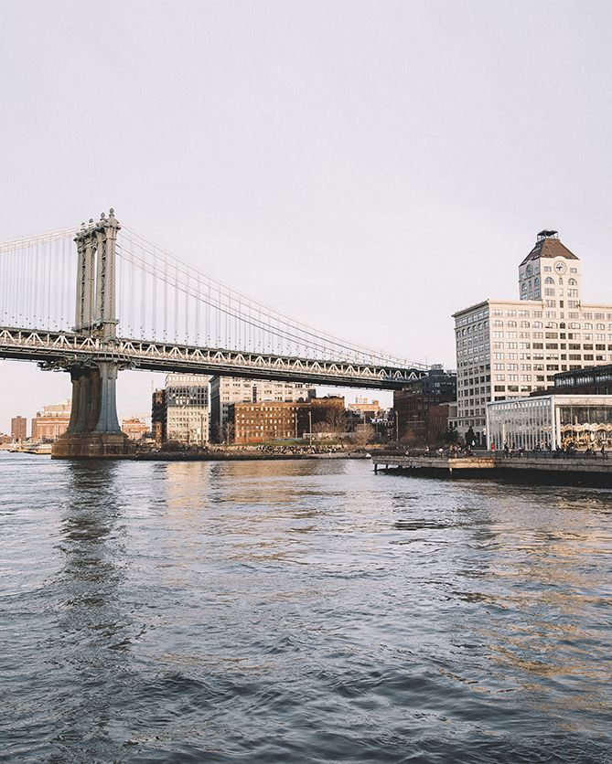 """""""Ride the NYC Ferry for the best view of the city. This is such a great way to to view NYC and Brooklyn at the same time."""" -Kate Edwards #Brooklyn #DUMBO #LoveMyCity Photograph by Kate Edwards"""