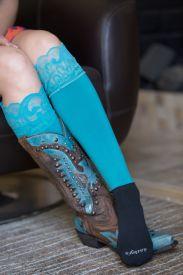 Western Lace Boot Socks $25.00