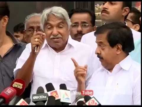 Oommen Chandy responds on Pinaray's controversial remarks - YouTube