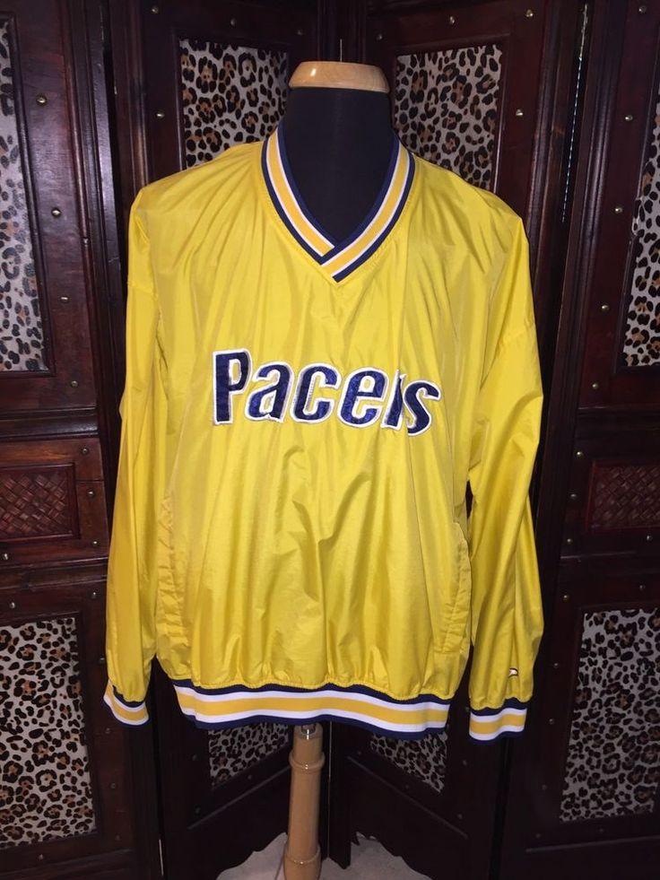 Vintage 90's Indiana Pacers Yellow Starter Pullover Windbreaker Pro Player XXL #ProPlayerNBA #IndianaPacers