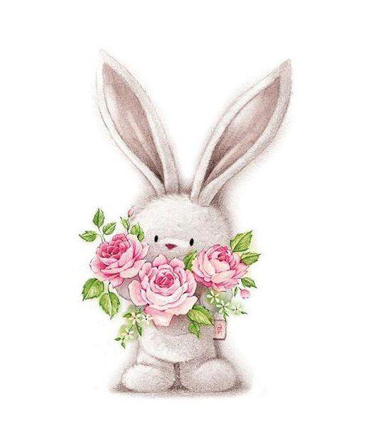 картинка зайчика с розой выдают могут назвать
