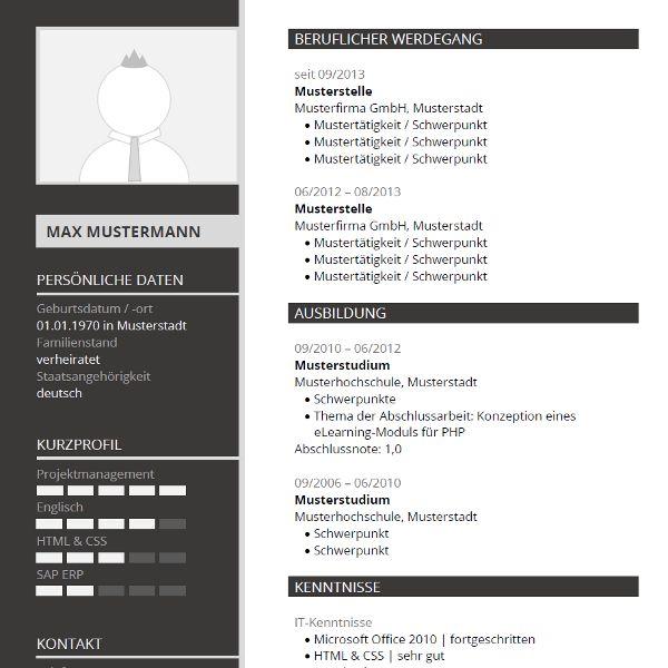 Pin Von Job Resume Auf Job Resume Samples: Modern CV-Template For Word