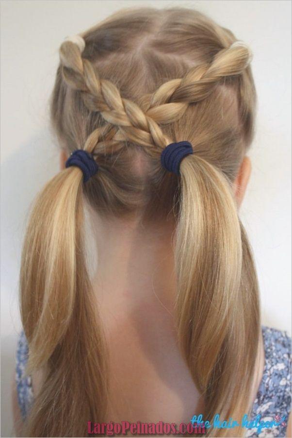 42 Peinados Rápidos Y Fáciles Para Niñas De La Escuela Fashion Insider Trenzas En Coleta Peinados Faciles Pelo Corto Peinados De Niñas Faciles