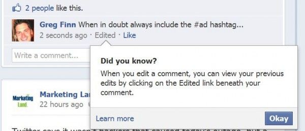 Did you know you can edit Facebook comments?: Media Sphere, Facebook Comments, Social Media, Facebook News, Edit Facebook