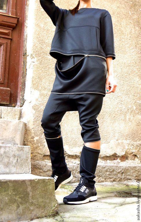 Купить Брюки Bomb - черный, брюки, Капри, спортивная одежда, спортивный стиль, спортивный костюм