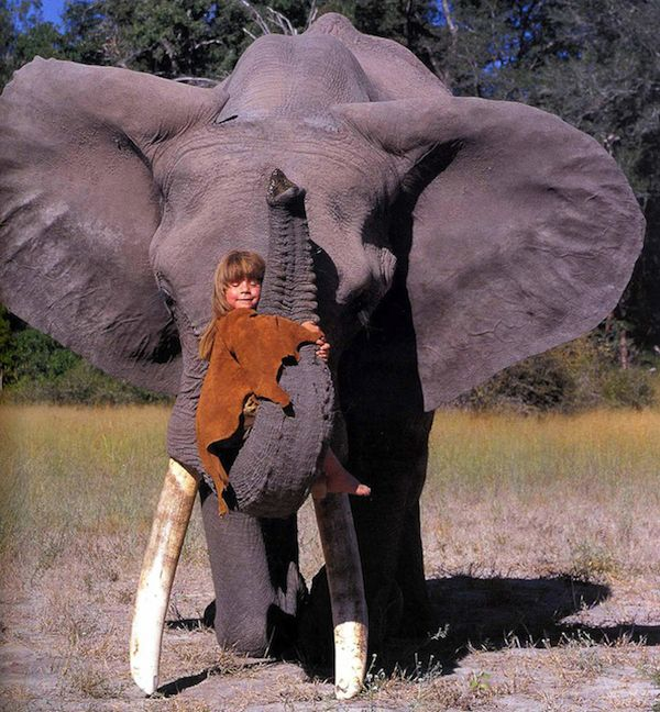 The REAL Mowgli: Incredible images of the little girl who spent the first ten years of her life growing up in the African bush Tippi Benjamine Okanti Degre was brought up with wild animals in Africa, is now 23 and lives in France  Made friends with an elephant, who she calls her brother, and a leopard Tippi was born in Namibia but travelled extensively with her photographer parents
