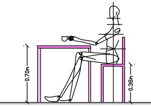 body measurements ergonomics for table and chair dining. Black Bedroom Furniture Sets. Home Design Ideas
