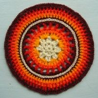 Crochet Mandala Wheel made by Andrea, Czech Republic, for yarndale.co.uk
